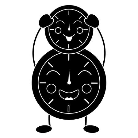 時計アイコン画像ベクトルイラストデザイン 黒と白 写真素材 - 94049532