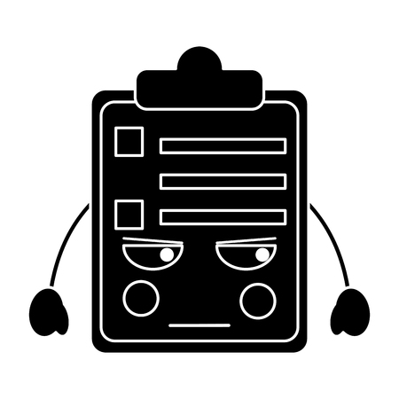 angry clipboard   icon image vector illustration design black and white