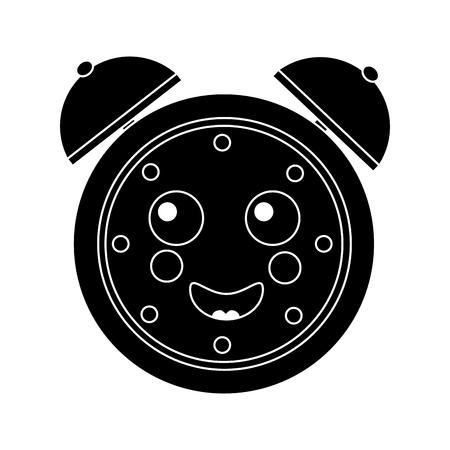 cartoon clock alarm character vector illustration black and white image Фото со стока - 94050660
