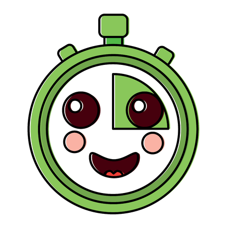 happy chronometer  icon image vector illustration design Illustration