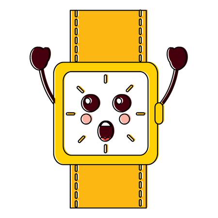 surprised watch kawaii icon image vector illustration design Illustration