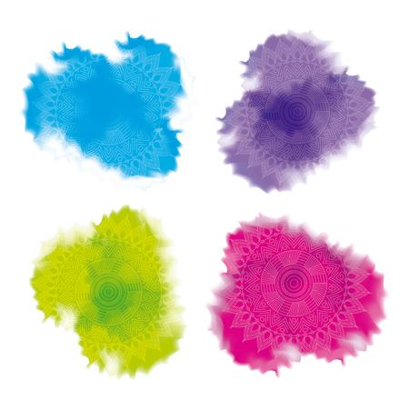 multicolored splash powder abstract decoration vector illustration