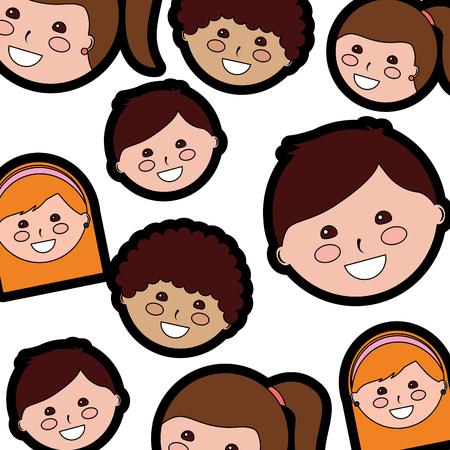 Happy kids children pattern image vector illustration design 版權商用圖片 - 94105744