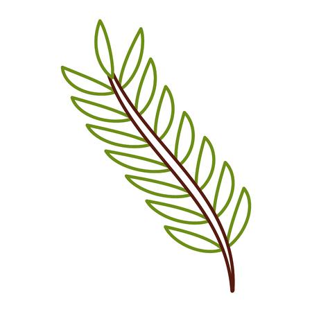 녹색 나뭇잎 봄 분기 자연 벡터 일러스트 컬러 라인 디자인 일러스트