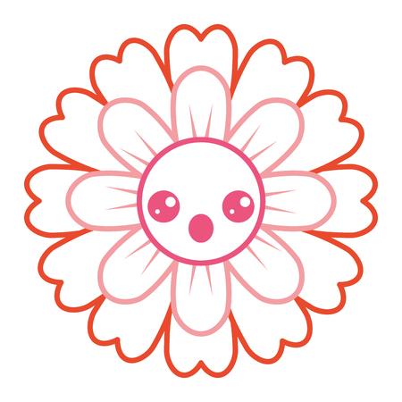 Flower cartoon cute petals vector illustration
