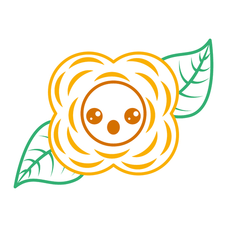 yellow flower cartoon natural vector illustration Illustration