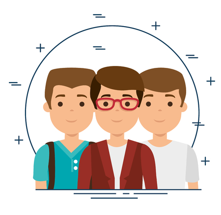 group of millennials generation young people vector illustration graphic design