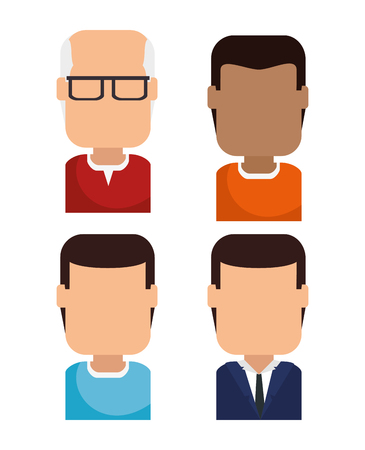 Set of avatars profile pictures Creative Social Networking People vector illustration graphic design. Illustration