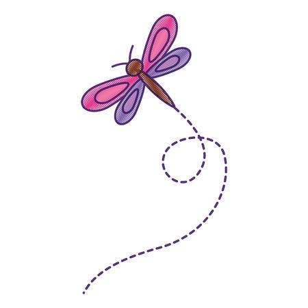 Diseño lindo del ejemplo del vector del animal animal de la libélula de la libélula Foto de archivo - 94131502