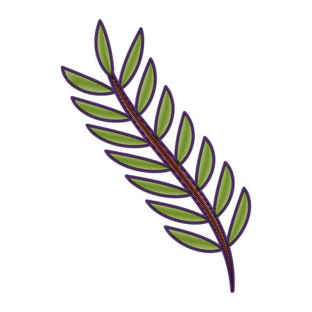 녹색 잎 봄 분기 자연 벡터 일러스트 그리기 디자인 일러스트