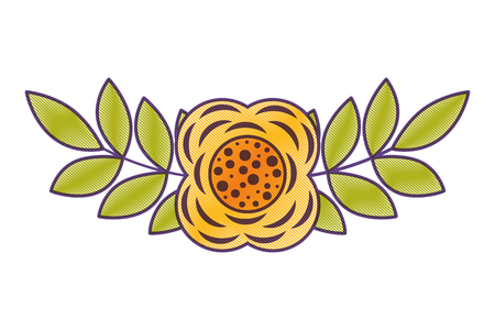 꽃과 나뭇잎 꽃 식물 자연 봄 이미지 벡터 일러스트 그리기 디자인