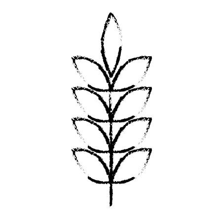 나뭇잎 자연 벡터 일러스트와 함께 봄 지점 스케치 디자인