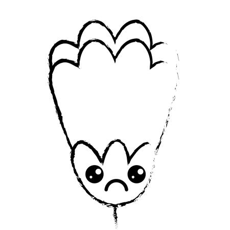 pink flower cartoon decoration vector illustration sketch design