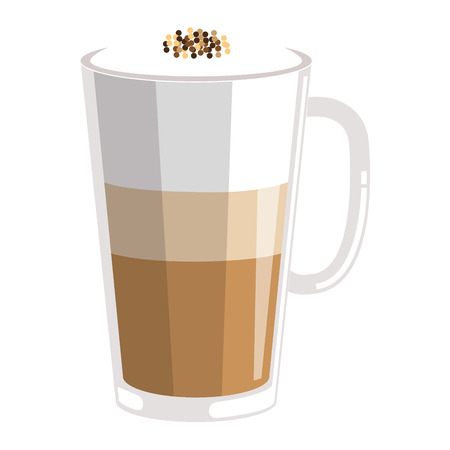 iced delicious coffee icon vector illustration design