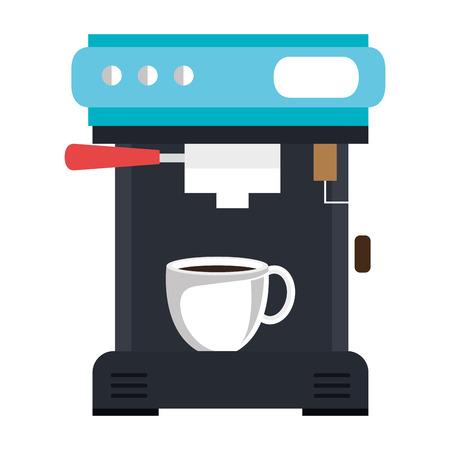コーヒーマシン絶縁アイコンベクトルイラストデザイン