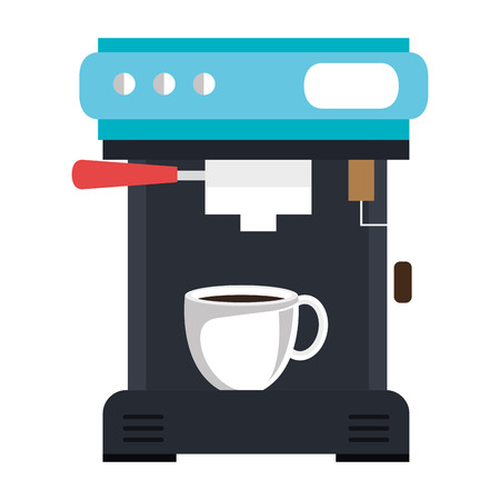 coffee machine isolated icon vector illustration design Çizim