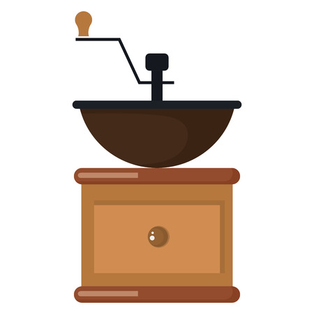 coffee grinder machine icon vector illustration design