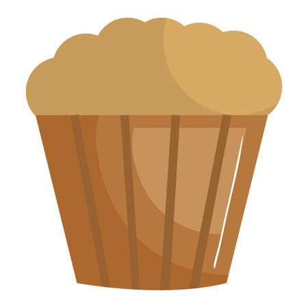 sweet cupcake isolated icon vector illustration design Illusztráció