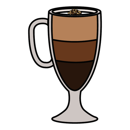 iced delicious coffee icon vector illustration design