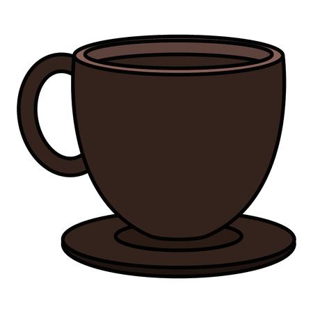 coffee cup hot icon vector illustration design