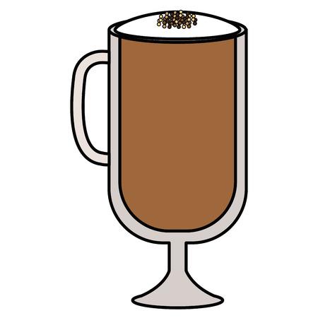 ijs heerlijke koffie pictogram vector illustratie ontwerp Stock Illustratie