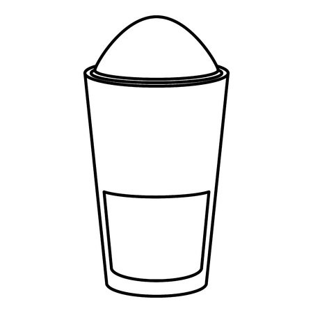 Progettazione deliziosa dell'illustrazione di vettore dell'icona del caffè ghiacciata Archivio Fotografico - 94140013