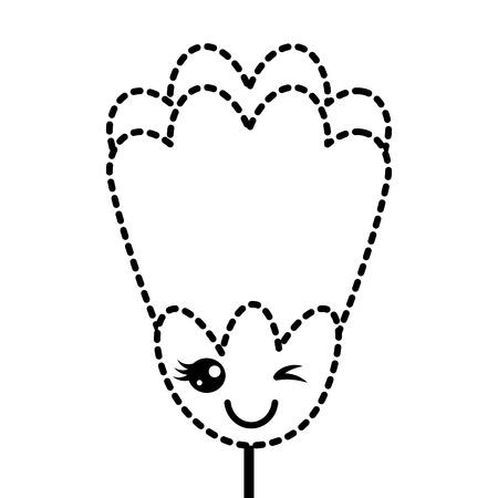 sticker bloem kawaii cartoon decoratie vector illustratie