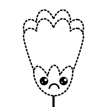 sticker flower cartoon decoration vector illustration Illustration