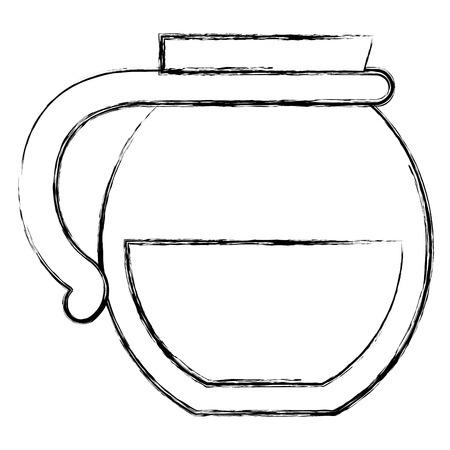 Bollitore caffè isolato icona illustrazione vettoriale illustrazione Archivio Fotografico - 94144936
