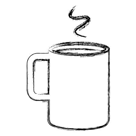 コーヒーカップホットアイコンベクトルイラストデザイン  イラスト・ベクター素材