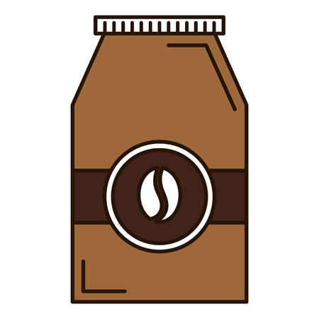 coffee bag product icon vector illustration design Иллюстрация