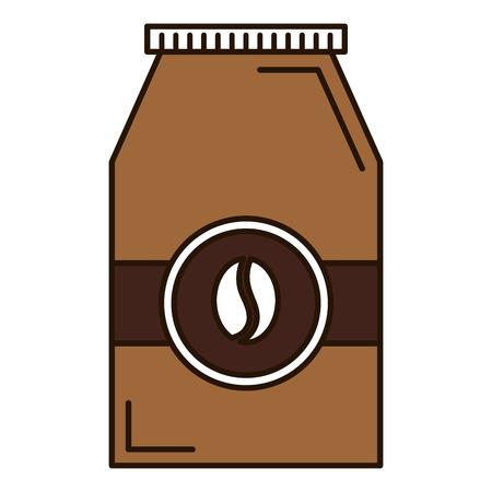 koffiezak product pictogram vector illustratie ontwerp Stock Illustratie