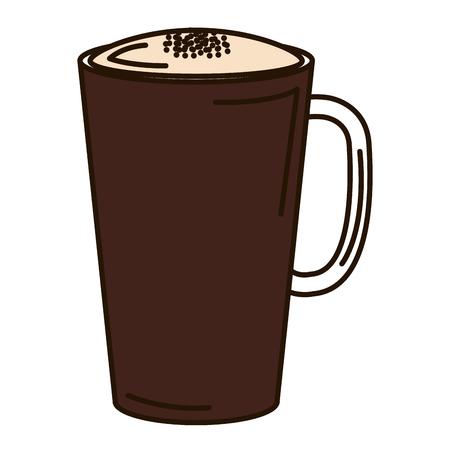 Progettazione deliziosa ghiacciata dell'illustrazione di vettore dell'icona del caffè Archivio Fotografico - 94266725