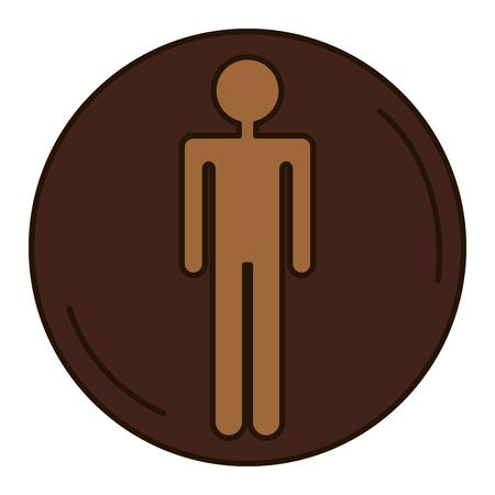 Figura humana masculina silhueta vector design ilustração Foto de archivo - 94269134