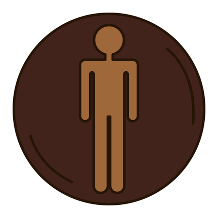 Male human figure silhouette vector illustration design Illustration