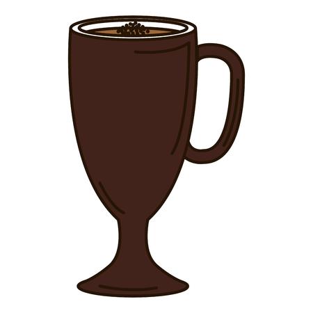 Progettazione deliziosa dell'illustrazione di vettore dell'icona del caffè ghiacciata Archivio Fotografico - 94146229