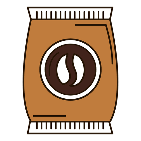 Coffee bag product icon vector illustration design Banco de Imagens - 94266810