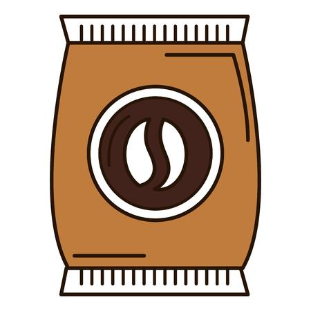 Ontwerp van de het pictogram het vectorillustratie van de koffiezak het product