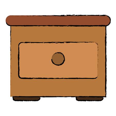 Tiroir en bois isolé icône du design d & # 39 ; illustration vectorielle Banque d'images - 94147442