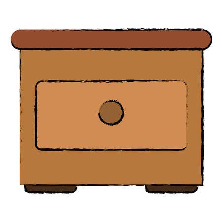 Wooden drawer isolated icon vector illustration design Banco de Imagens - 94147442