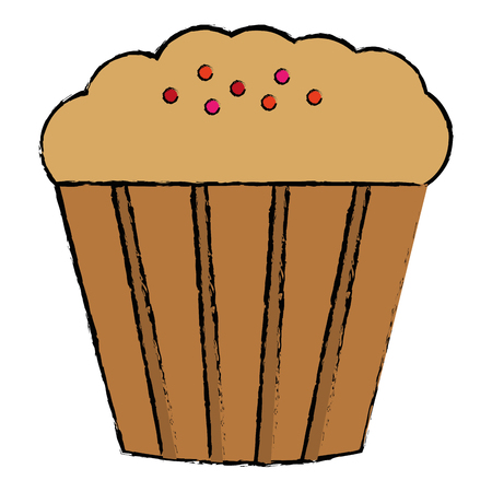 sweet cupcake isolated icon vector illustration design Ilustração