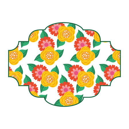 pattern badge floral decoration spring flower image vector illustration Фото со стока - 94273767