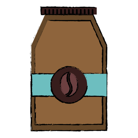 Coffee bag product icon vector illustration design.