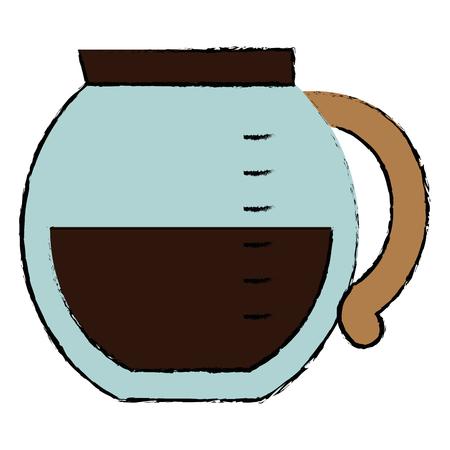 Progettazione dell'illustrazione di vettore dell'icona isolata caffè del bollitore. Archivio Fotografico - 94143293
