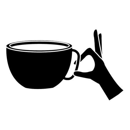 hand with coffee cup hot icon vector illustration design Ilustração