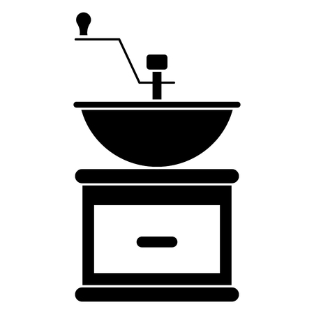 Coffee grinder machine icon vector illustration design.