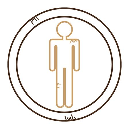 Male human figure silhouette vector illustration design Ilustrace
