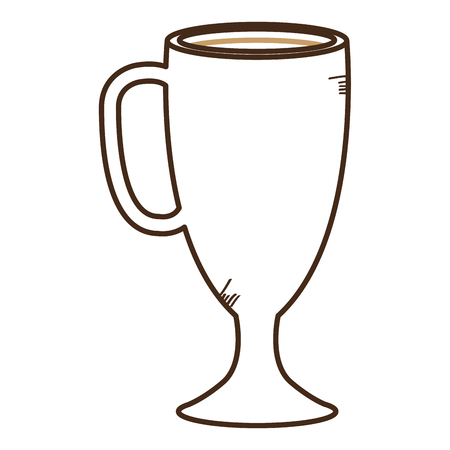 Bevroren heerlijk vector de illustratieontwerp van het koffiepictogram Stock Illustratie