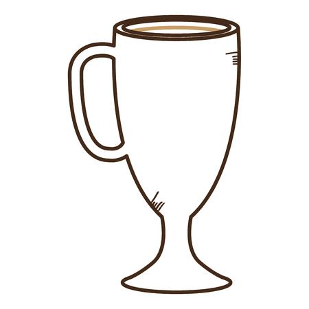Iced delicious coffee icon vector illustration design Illustration