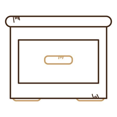Tiroir en bois isolé icône du design d & # 39 ; illustration vectorielle Banque d'images - 94146495